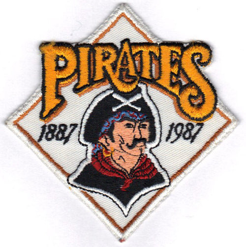 1987 Pittsburgh Pirates 100th Anniversary Logo Jersey Sleeve Patch (White Version)