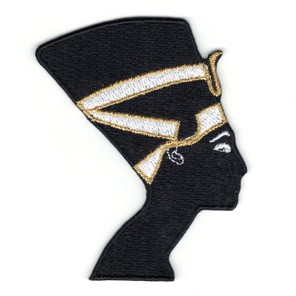 Queen Nefertiti Silhouette Iron On Patch