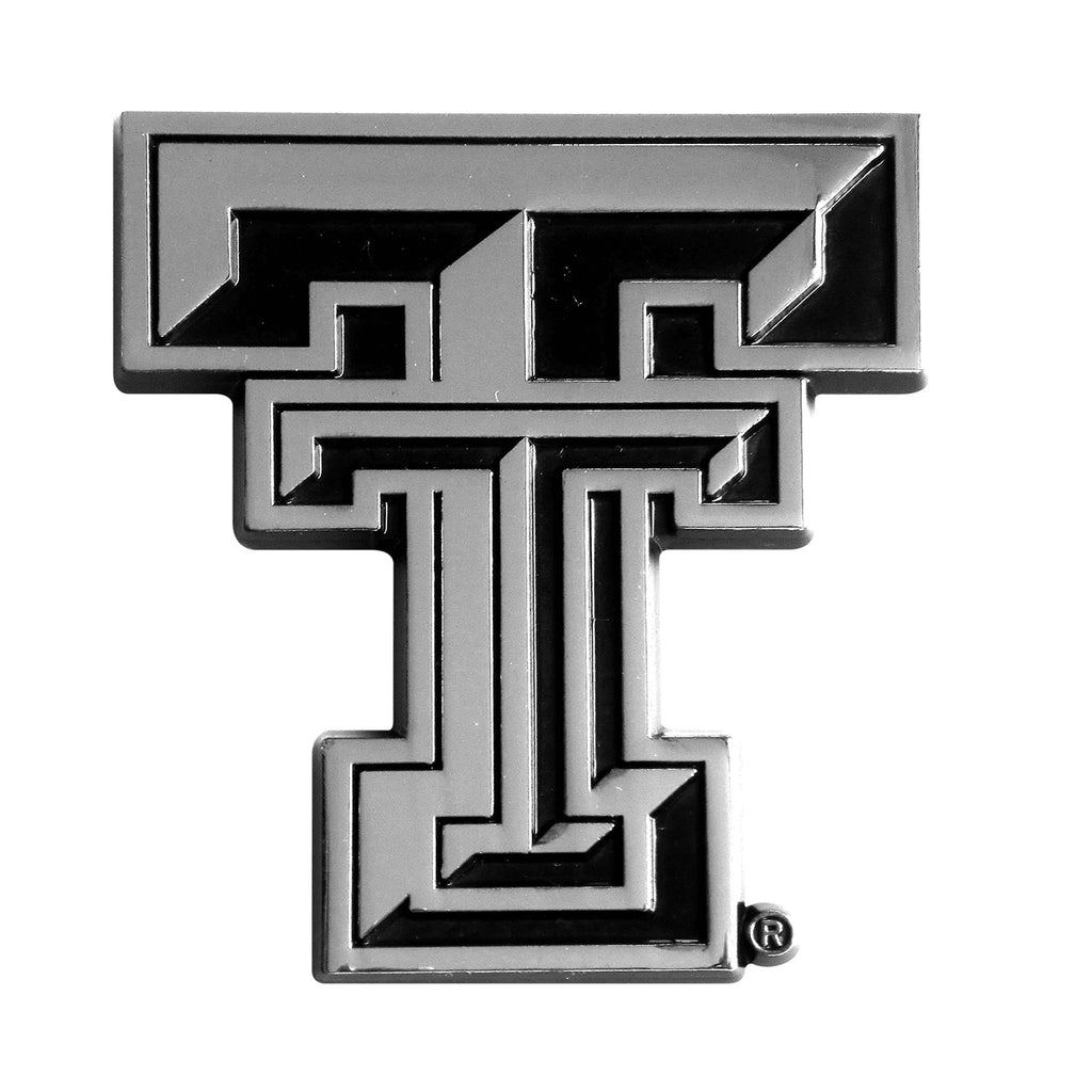 Texas Tech Red Raiders Premium Solid Metal Chrome Auto Emblem