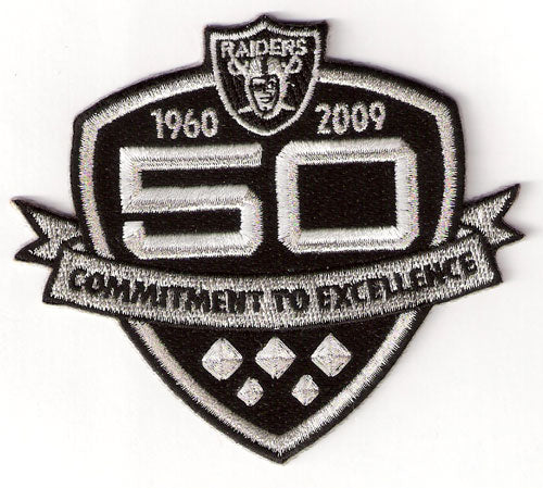 Oakland Raiders 50th Anniversary Patch (2009)