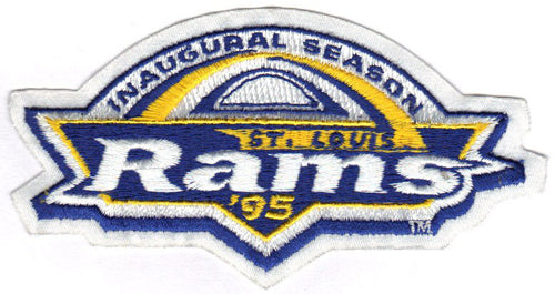 1995 St. Louis Rams Inaugural NFL Season Patch
