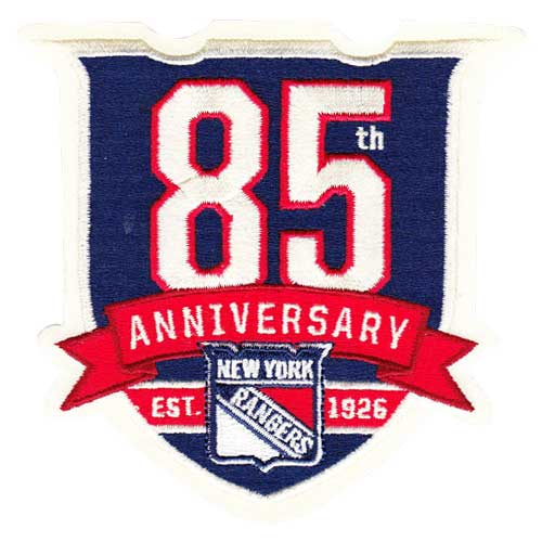 2010-11 New York Rangers 85th Anniversary Jersey Patch