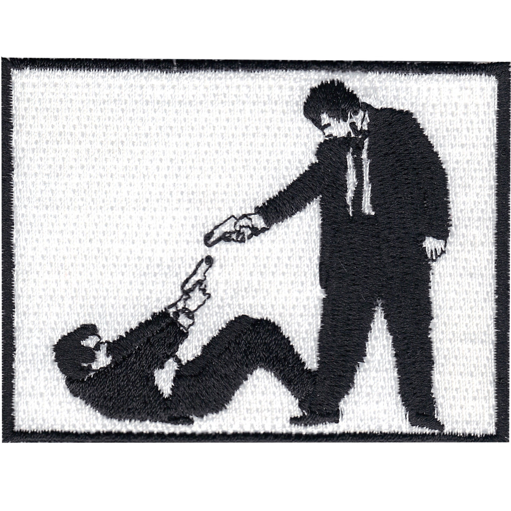 Mister Pink and Mister White Embroidered Iron On Patch