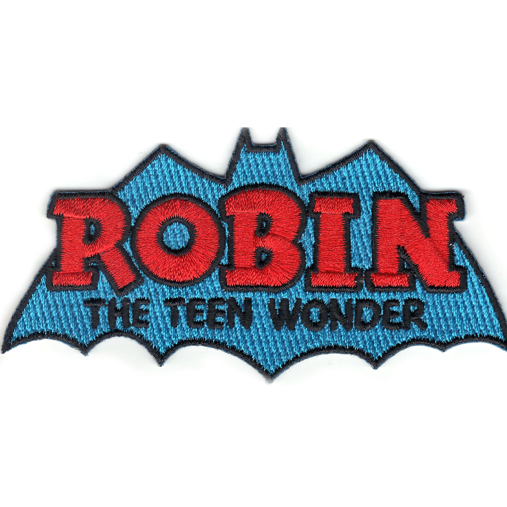 Dc Comics Robin 'The Teen Wonder' Iron on Patch