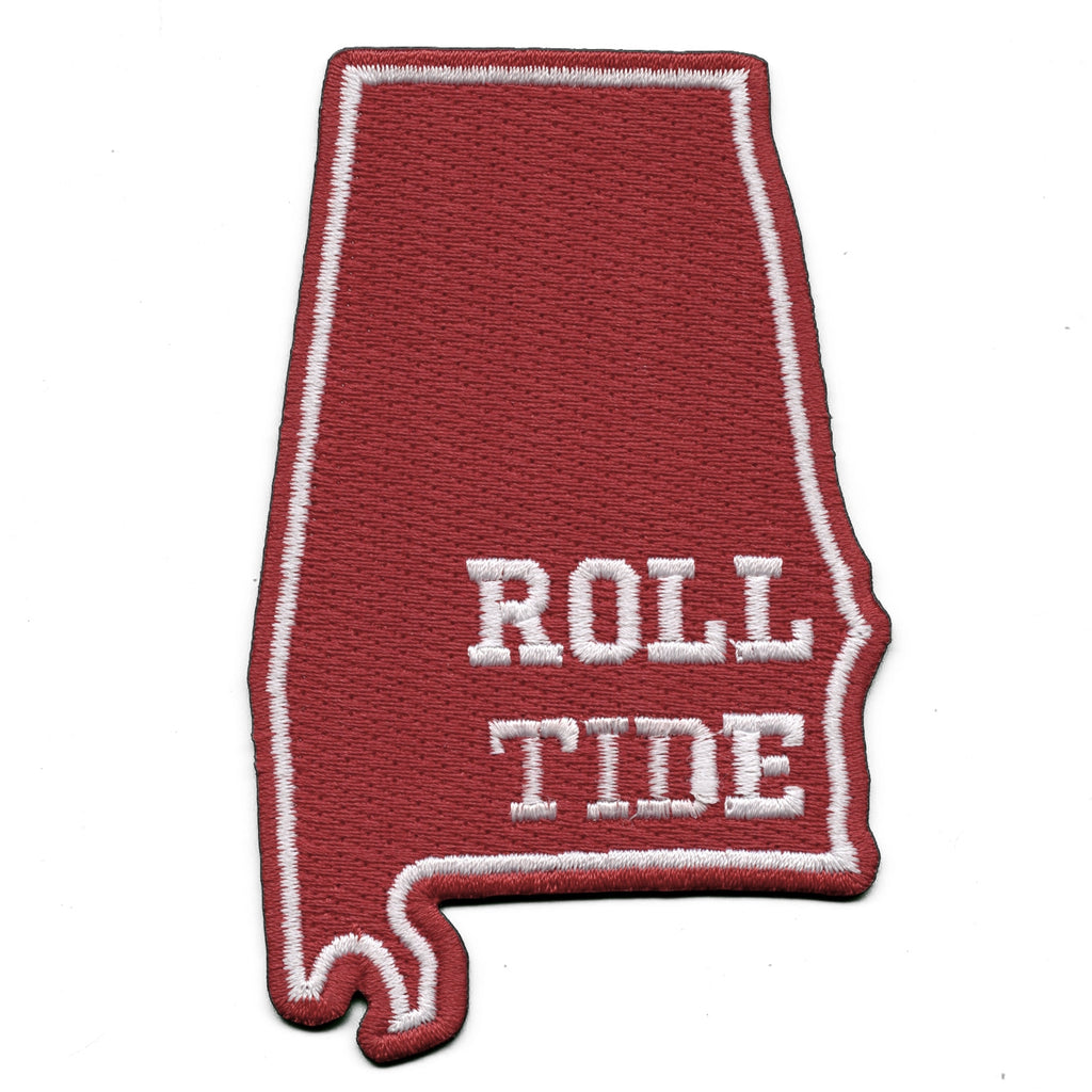 Alabama State Roll Tide Iron On Patch