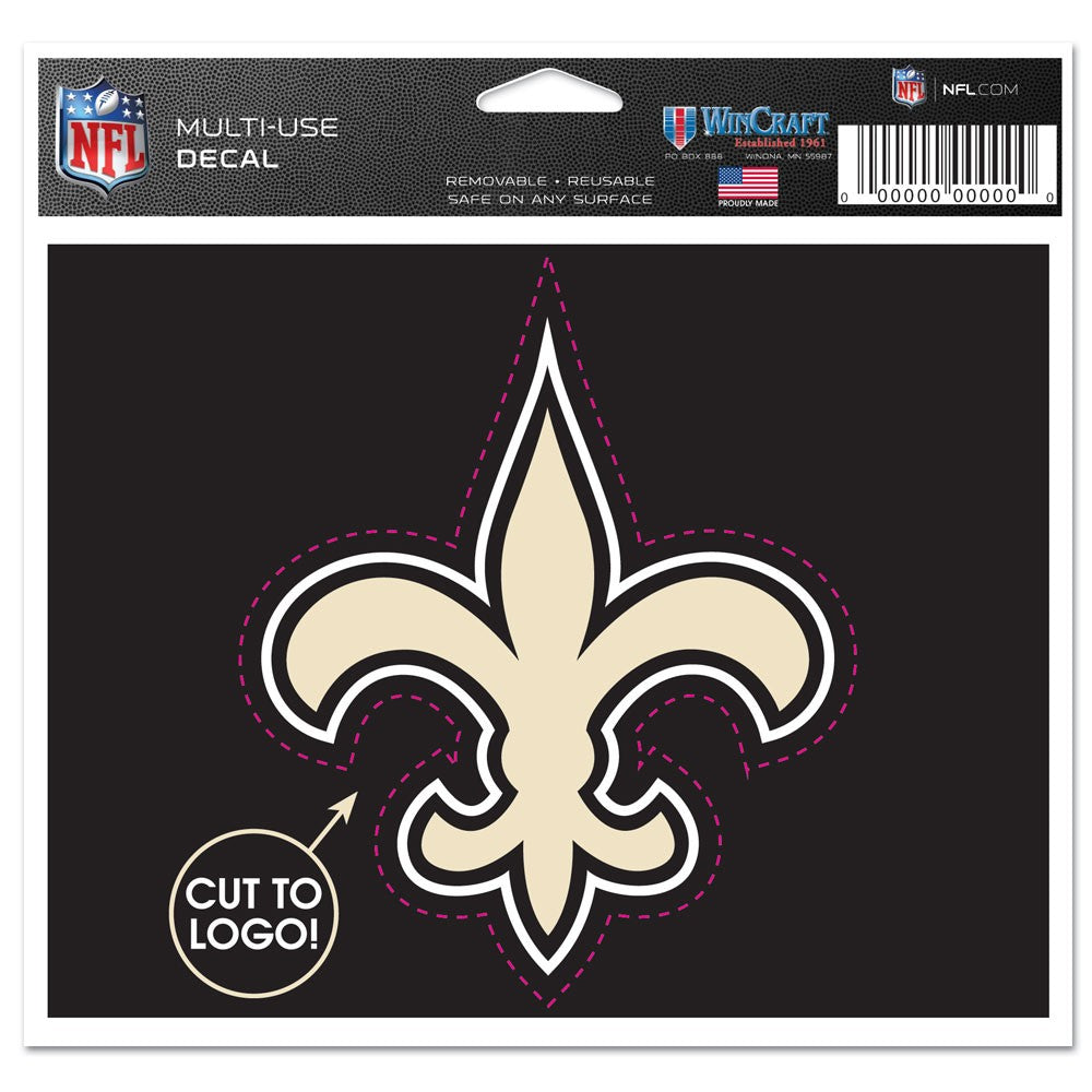 "New Orleans Saints NFL Multi-Use Decal Sticker 4.5"" X 5.75"""