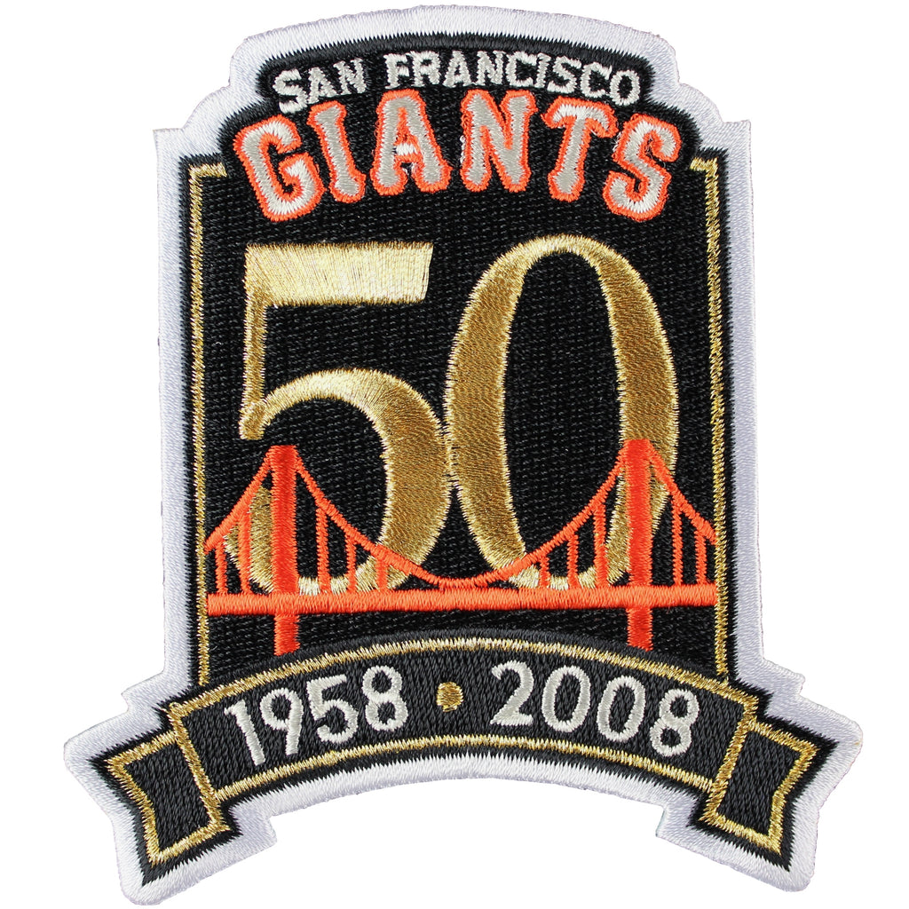 2008 San Francisco Giants 50th Anniversary Jersey Patch