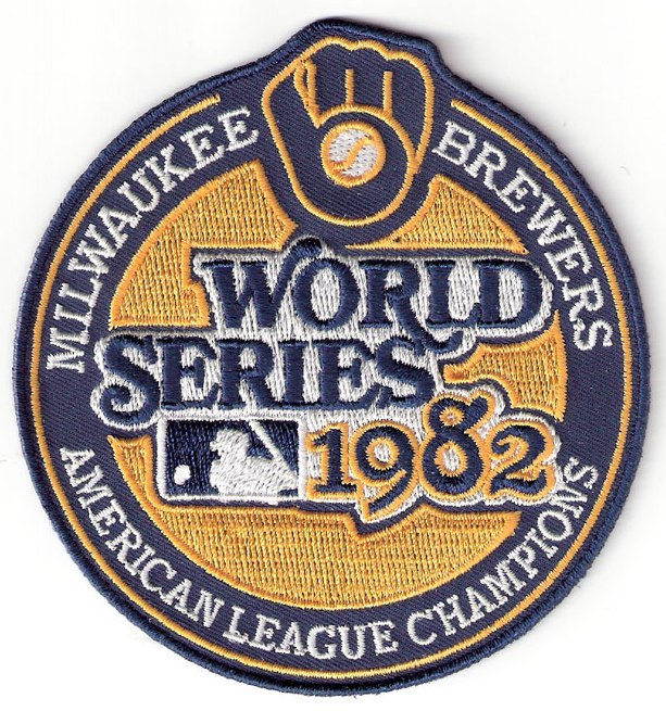 1982 Milwaukee Brewers American League Champions MLB World Series Logo Jersey Patch