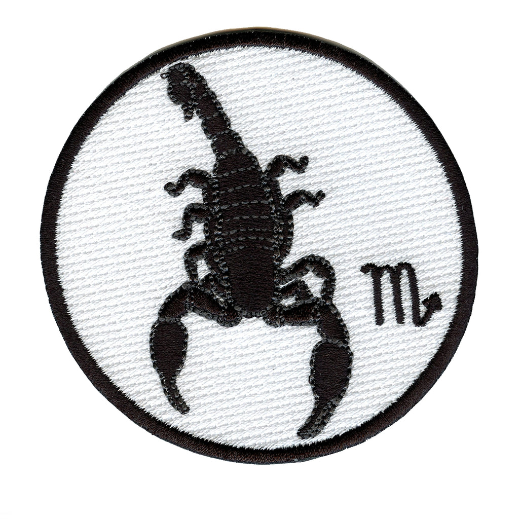Scorpio Zodiac Sign Embroidered Iron On Patch