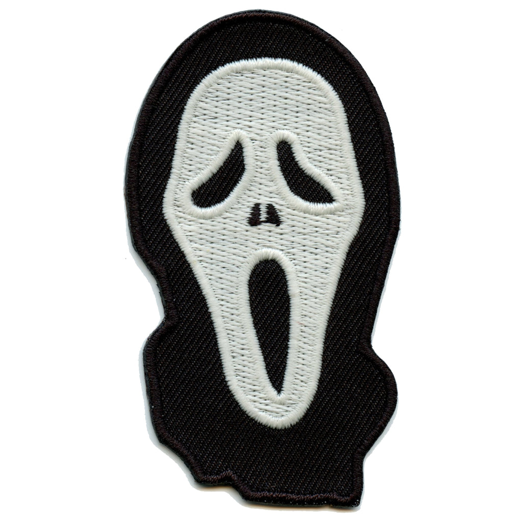 Evil Murder Mask Glow In The Dark Iron On Embroidered Patch
