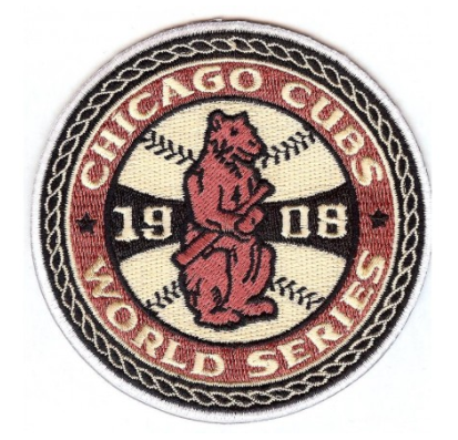 1908 Chicago Cubs MLB World Series Championship Jersey Patch