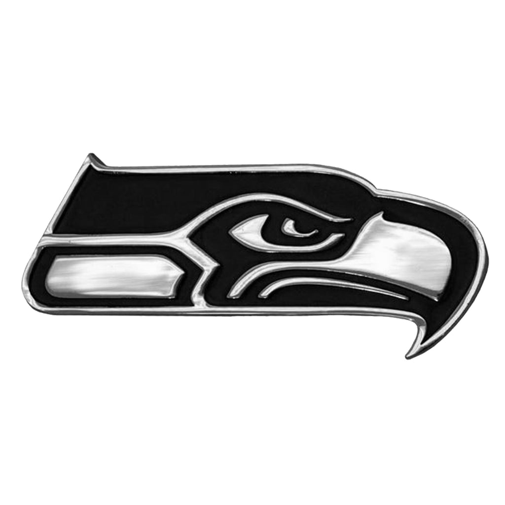 Seattle Seahawks Premium Solid Metal Chrome Plated Car Auto Emblem