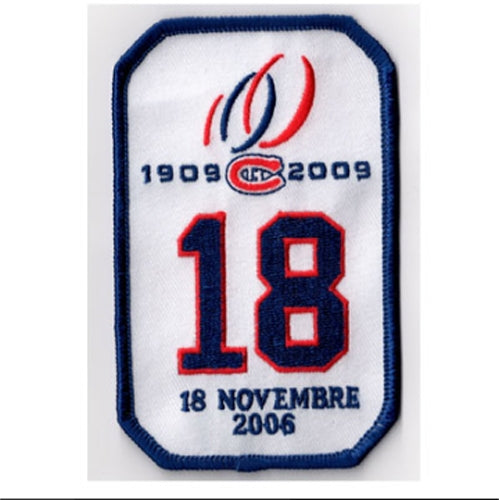 Montreal Canadiens Serge Savard #18 Retirement Jersey Patch