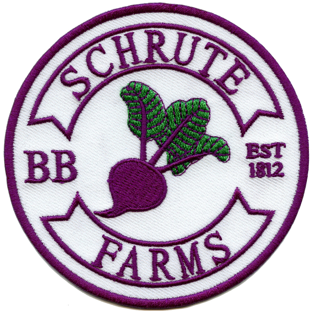 Beet Farm Bed And Breakfast Round Embroidered Iron On Patch