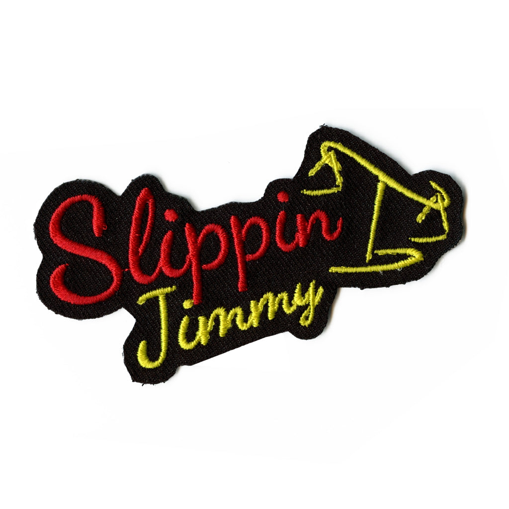 Slipping Jimmy Iron On Patch (Black)