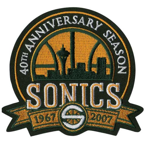 Seattle Super Sonics 40th Anniversary Logo Patch (2006-07)
