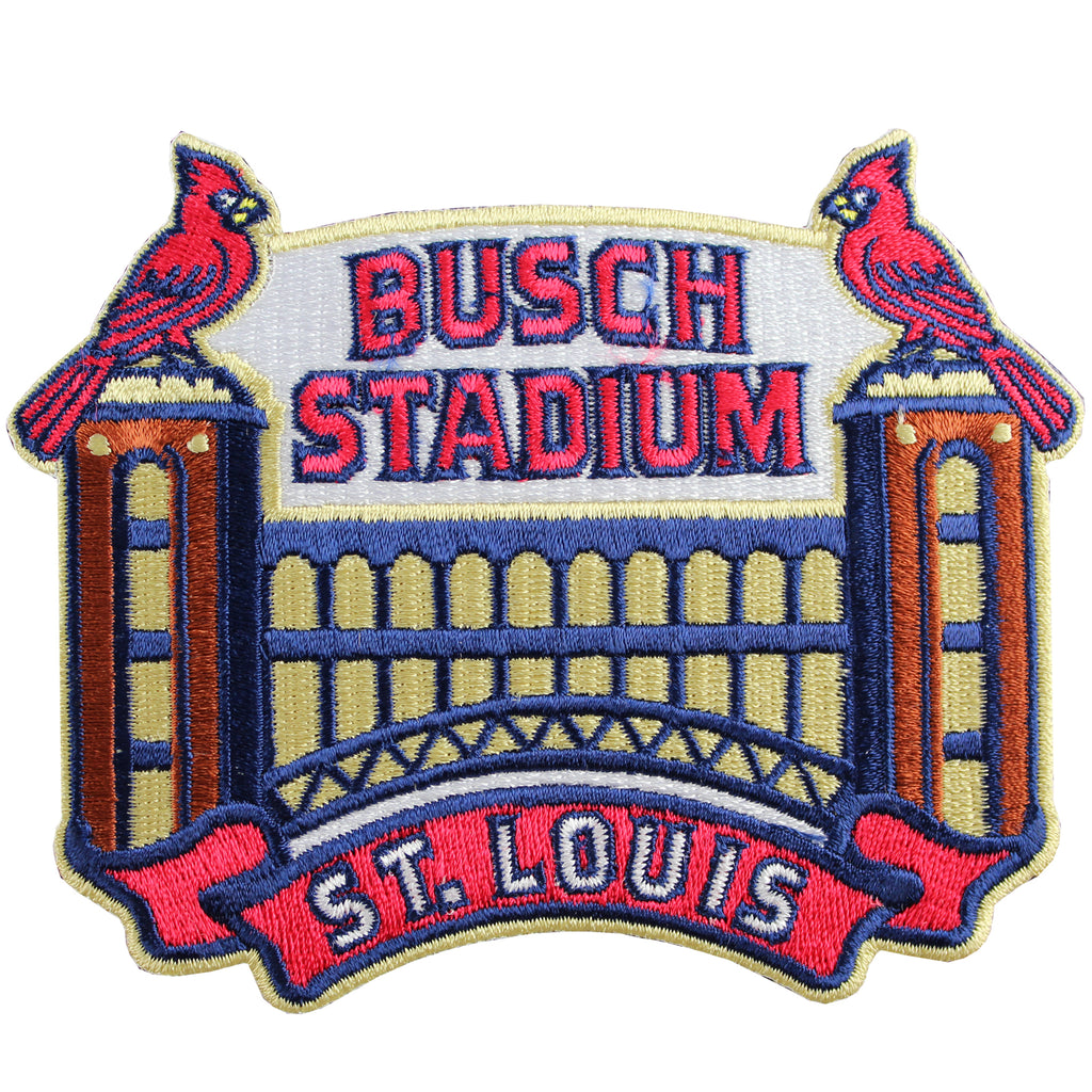 "St. Louis Cardinals ""Busch Stadium"" Primary Logo Patch"