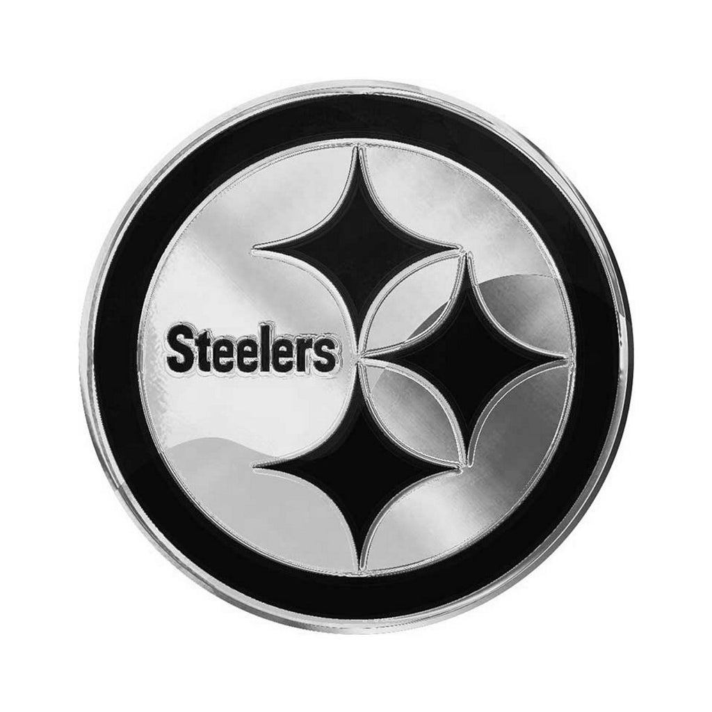 Pittsburgh Steelers Premium Solid Metal Chrome Plated Car Auto Emblem