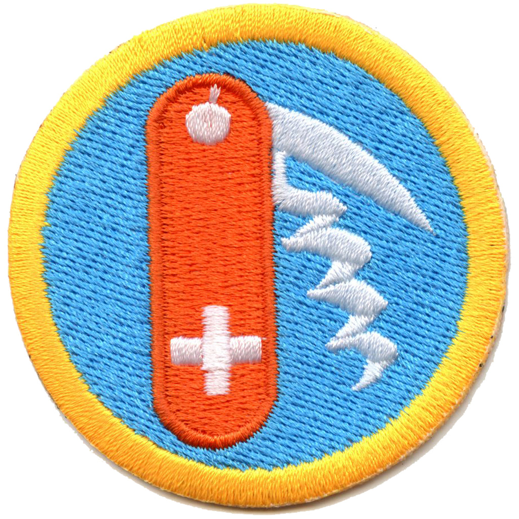 Swiss Army Knife Skills Scout Merit Badge Embroidered Iron on Patch