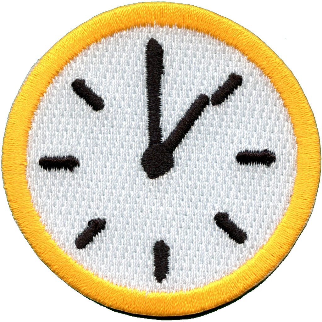 Tell The Time Clock Merit Badge Embroidered Iron-on Patch