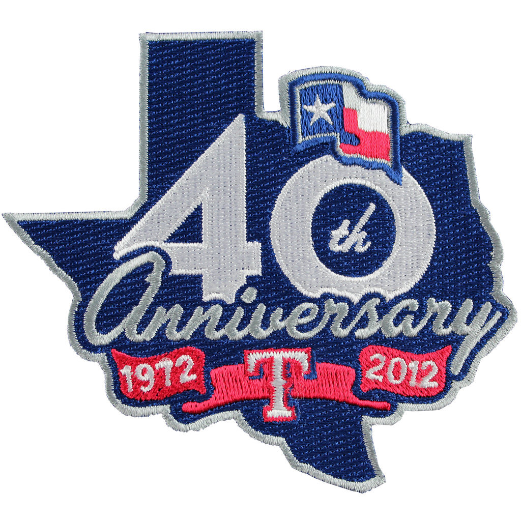 2012 Texas Rangers 40th Anniversary Jersey Patch