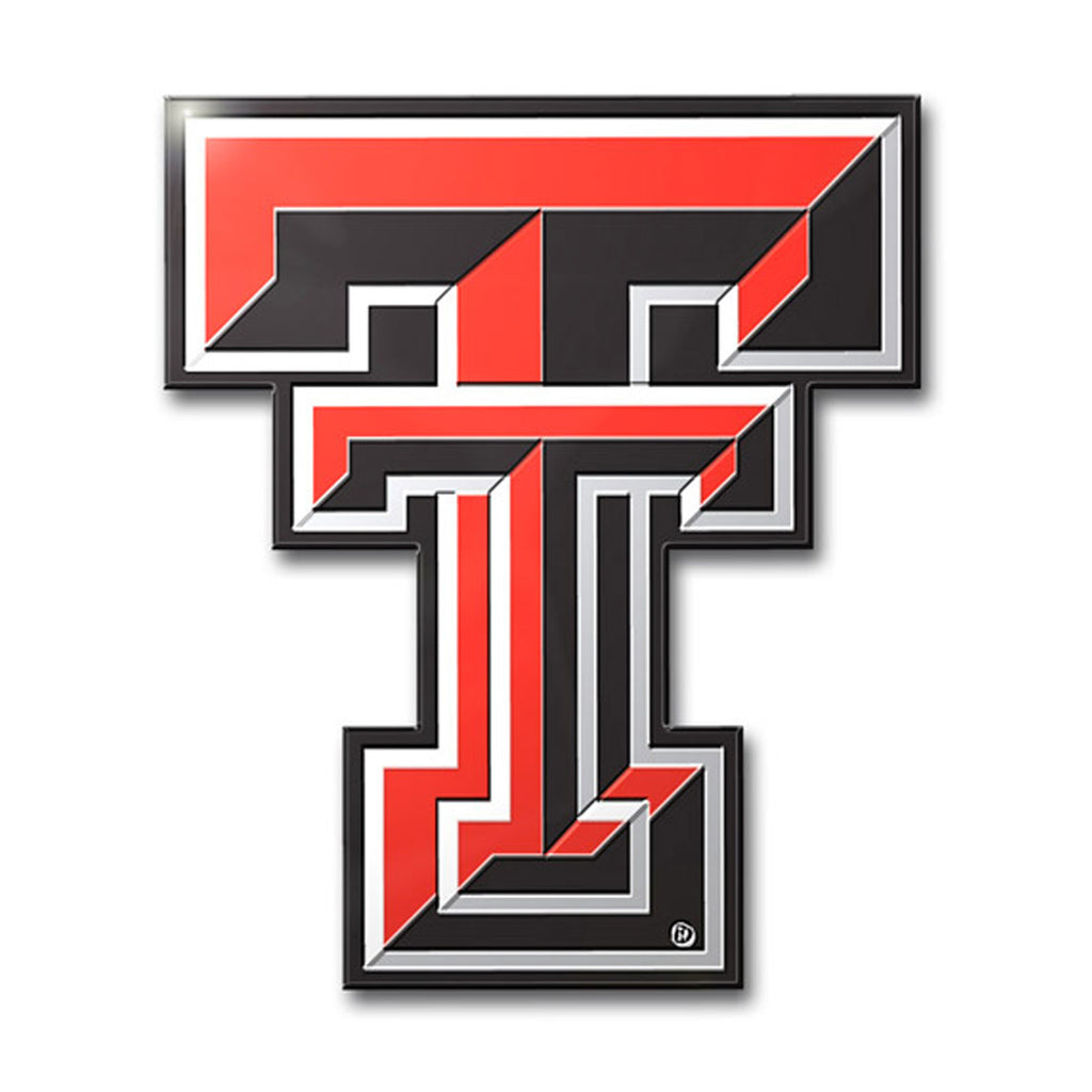 Texas Tech Red Raiders Colored Aluminum Car Auto Emblem