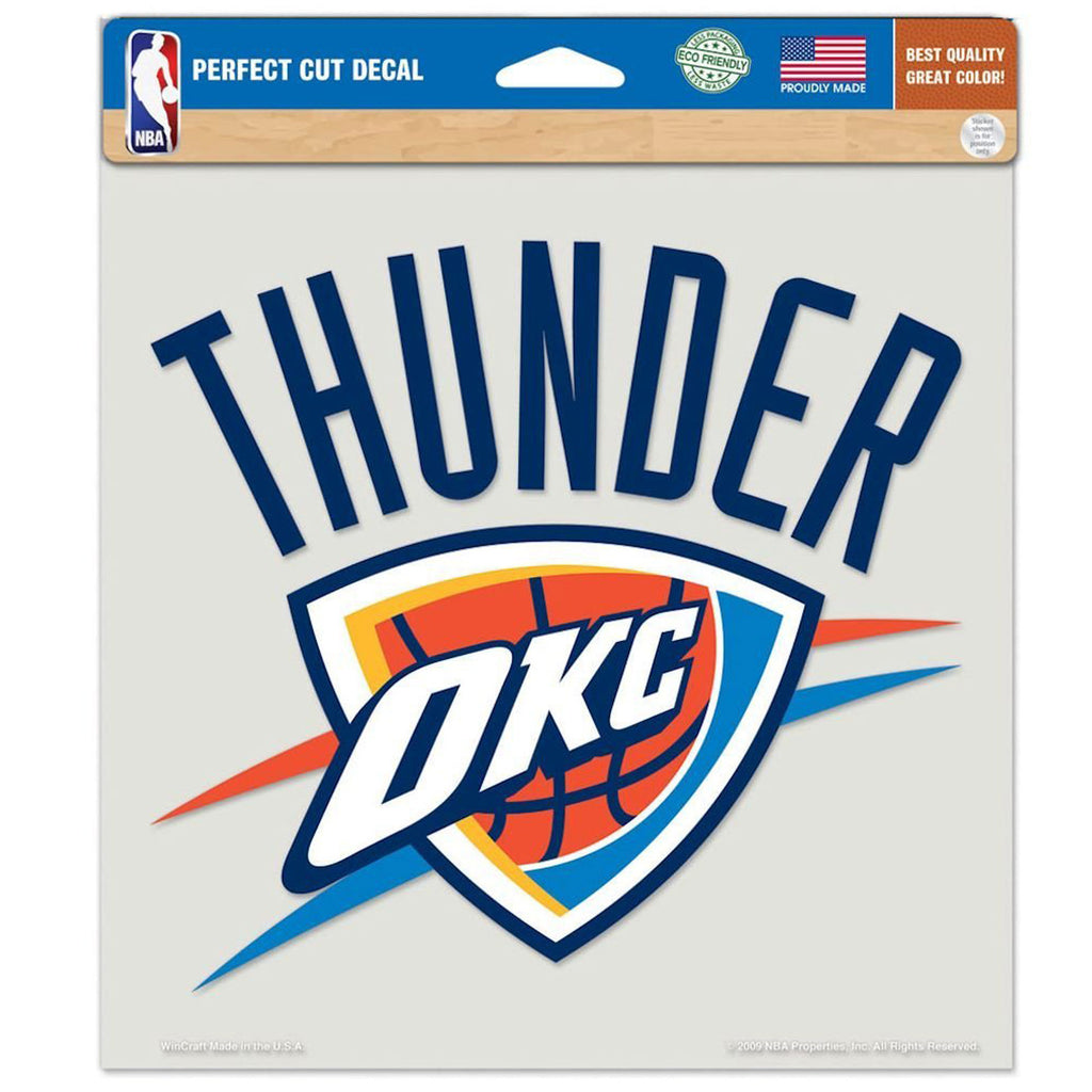 "Oklahoma City Thunder Primary Team Logo Die Cut Decal 8"" x 8""  (Colored)"