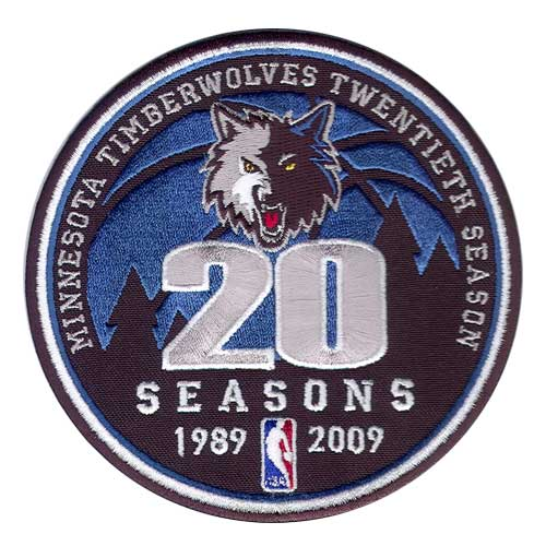 Minnesota Timberwolves 20th Anniversary Logo Patch (2008-09)