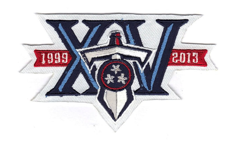Tennessee Titans 15th Team Anniversary Jersey Patch 'XV' (2013)