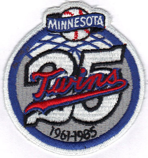 1985 Minnesota Twins 25th Anniversary Jersey Sleeve Patch