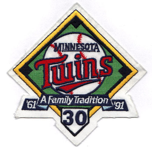 1991 Minnesota Twins 30th Anniversary 'A Family Tradition' Logo Patch