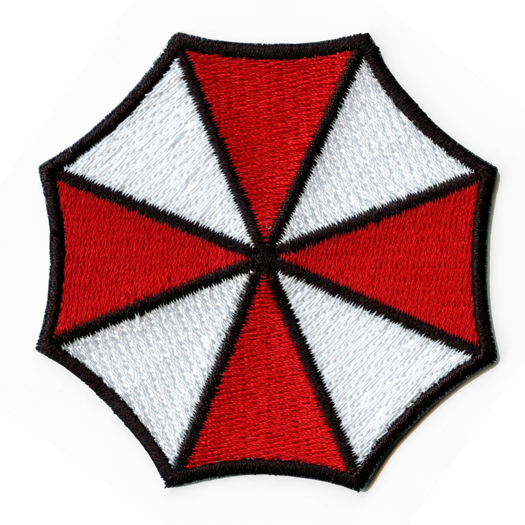 Red Umbrella Pharmacy Shield Logo Iron On Embroidered Patch