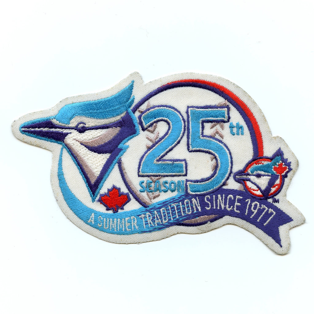 2001 Toronto Blue Jays 25th Anniversary Vintage Patch