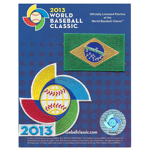 Brazil 2013 World Baseball Classic Patch Pack