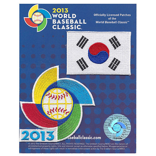 Korea 2013 World Baseball Classic Patch Pack