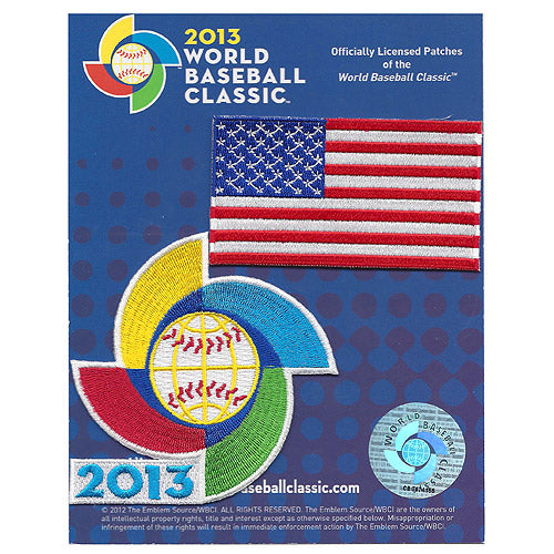 U.S.A. America Flag 2013 World Baseball Classic Patch Pack