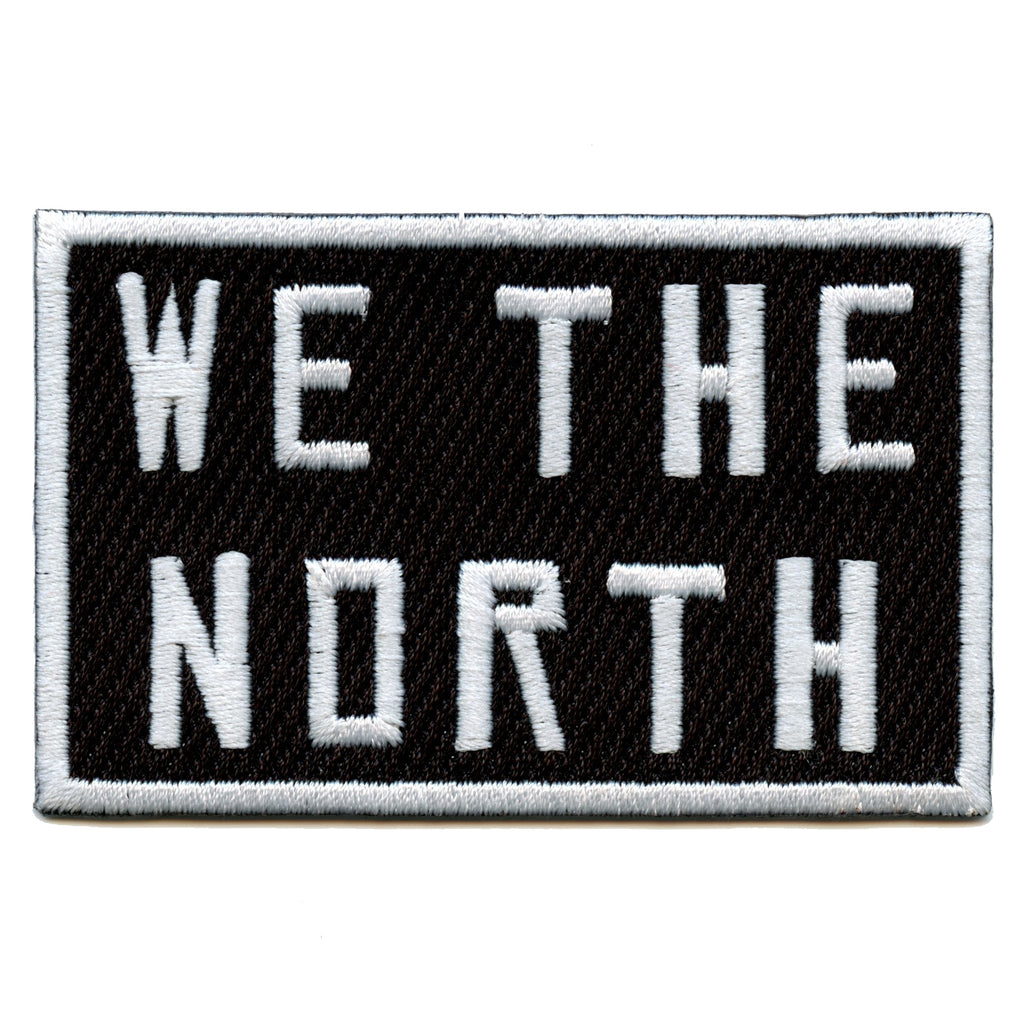 We The North Toronto Canada Pride Iron On Patch (Black)