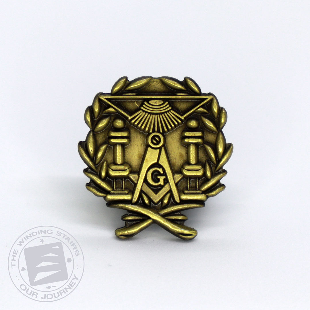Brazen Pillars Lapel Pin