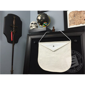 Masonic Pin Display Apron (White)