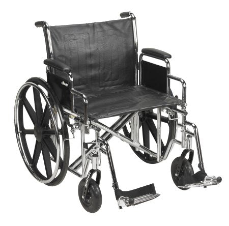 Wheelchair McKesson Dual Axle Desk Length Arm Removable Padded Arm Style Composite Wheel Black Upholstery 22 Inch Seat Width 450 lbs. Weight Capacity