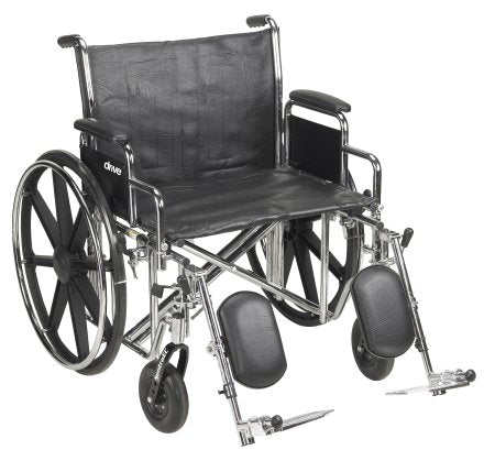 Wheelchair McKesson Dual Axle Desk Length Arm Removable Padded Arm Style Composite Wheel Black Upholstery 24 Inch Seat Width 450 lbs. Weight Capacity