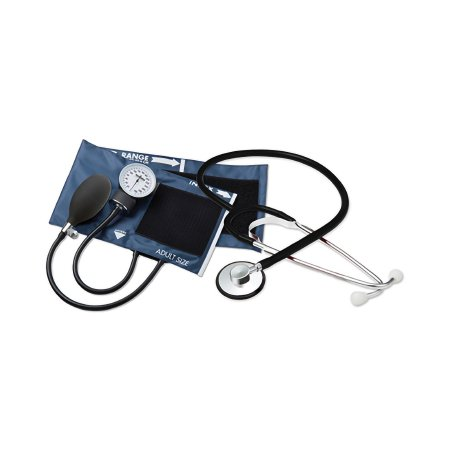 Combo Kit For Nurses and Students Adult Size Nylon Cuff 21 Inch Stethoscope Tube Nurse Style Stethoscope