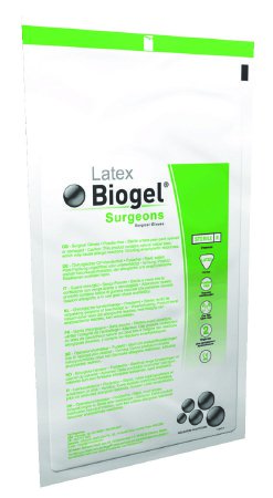 Surgical Glove Biogel® Surgeons Size 8 Sterile Latex Standard Cuff Length Micro-Textured Straw Not Chemo Approved