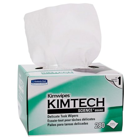 Delicate Task Wipe Kimtech Science Kimwipes Light Duty White NonSterile 1 Ply Tissue 4-2/5 X 8-2/5 Inch Disposable