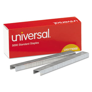 "Standard Chisel Point Staples, 0.25"" Leg, 0.5"" Crown, Steel, 5,000/Box, 5 Boxes/Pack, 25,000/Pack"