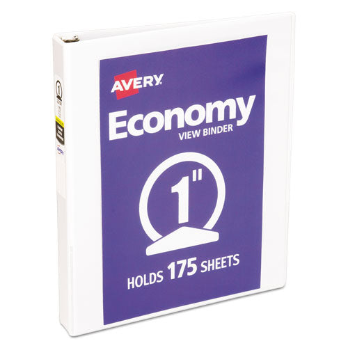Economy View Binder with Round Rings , 3 Rings, 1