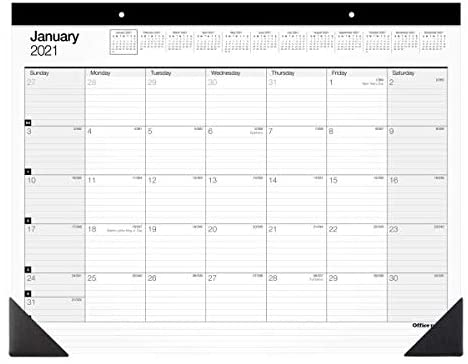 Office Depot Brand Monthly Desk Pad Calendar, 22