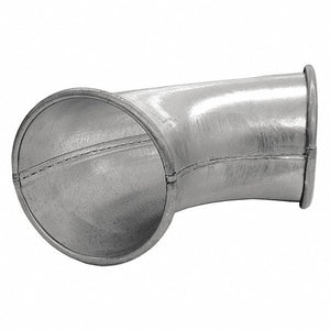 Galvanized Steel 90 Degree Elbow, 6 in Duct Fitting Diameter, 13 5/16 in Duct Fitting Length