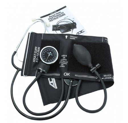 Aneroid Sphygmomanometer Combo Kit For Nurses and Students Size 9.5 Nylon Cuff Nurse Style Stethoscope