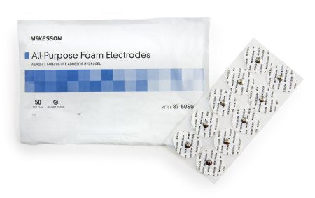ECG Snap Electrode McKesson Monitoring Non-Radiolucent 50 per Pack